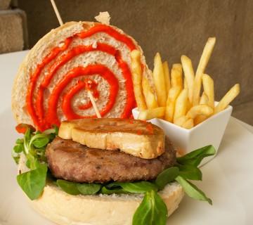 hamburguesa con foie